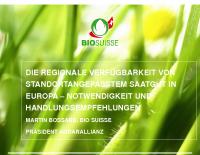 Regionale Verfügbarkeit von Saatgut Martin Bossart