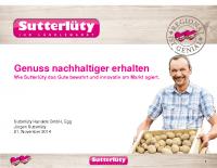 Regionalität und Nachhaltigkeit Jürgen Sutterlüty