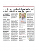 VN Interview vom 19.11.2014 mit W. Lampert