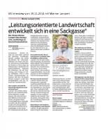 VN Interview vom 19.11.2014 mit W. Lampert