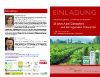 Einladung 20 Jahre Agro-Gentechnik