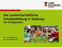 Die Landwirtschaftliche  Schulausbildung in Salzbur